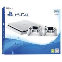 Sony Playstation 4 Slim 500Gb White + DualShock 4 (Version 2) (white)