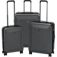 """Набор чемоданов Wenger Matrix Set (20""""/24""""/28"""") 4 колеса Grey серый (604351)"""