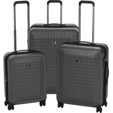 "Набор чемоданов Wenger Matrix Set (20""/24""/28"") 4 колеса Grey серый (604351)"