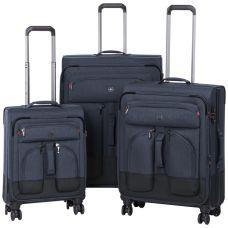 "Набор чемоданов Wenger Deputy Set (20""/24""/29"") 4 колеса Dark Blue тёмно-синий (604365)"