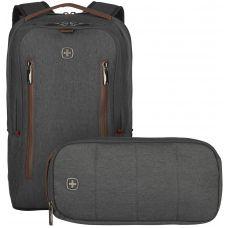 "Рюкзак для ноутбука Wenger City Upgrade 16"" Grey + сумка серый (606489)"