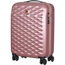 """Чемодан пластиковый Wenger Lumen 20"""" малый, светло-розовый (606496)"""