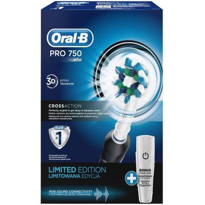 Электрическая зубная щетка Braun Oral-B PRO 750 CrossAction Black (D16.513.UX Black)