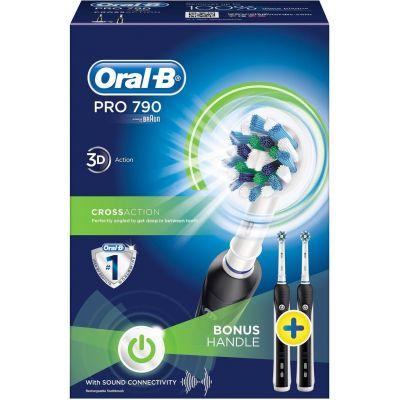Набор электрических зубных щеток Braun Oral-B PRO 790 CrossAction Black