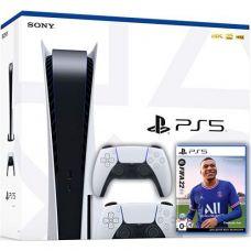 Sony PlayStation 5 White 825Gb + FIFA 22 (русская версия) + DualSense (White)