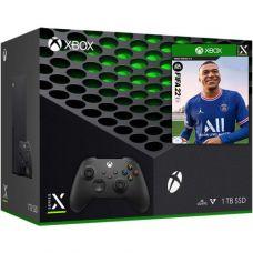 Microsoft Xbox Series X 1Tb + FIFA 22 (русская версия) + доп. Wireless Controller with Bluetooth (Carbon Black)