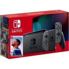 Nintendo Switch Gray (Upgraded version) + Игра FIFA 22 Legacy Edition (русская версия)