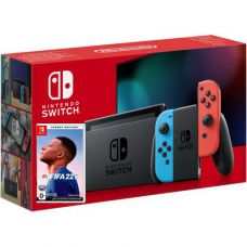 Nintendo Switch Neon Blue-Red (Upgraded version) + Игра FIFA 22 Legacy Edition (русская версия)