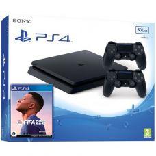 Sony Playstation 4 Slim 500Gb + FIFA 22 (русская версия) + DualShock 4 (Version 2) (black)