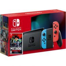 Nintendo Switch Neon Blue-Red (Upgraded version) + Игра Metroid Dread (русская версия)
