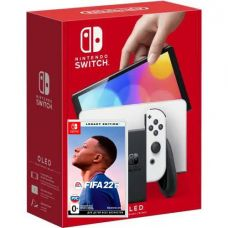 Nintendo Switch (OLED model) White + Игра FIFA 22 Legacy Edition (русская версия)