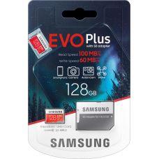 Карта памяти Samsung EVO Plus V2 microSDXC UHS-I U3 128Gb + SD-adapter (MB-MC128HA/RU)
