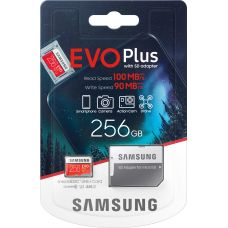 Карта памяти Samsung EVO Plus microSDXC UHS-I U3 256Gb + SD-adapter (MB-MC256HA)