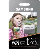 Карта памяти Samsung EVO Select microSDXC UHS-I U3 128GB + SD-adapter (MB-ME128GA/EU)