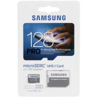 Карта памяти Samsung Pro microSDXC UHS-I 128GB + SD-adapter (MB-MG128D)