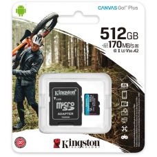 Карта памяти Kingston Canvas Go! Plus microSDXC UHS-I U3 V30 A2 512GB + SD-адаптер (SDCG3/512GB)
