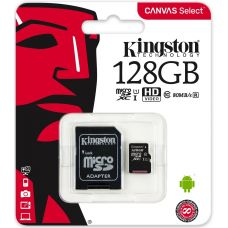 Карта памяти Kingston Canvas Select microSDXC UHS-I 128GB + SD-adapter (SDCS/128GB)
