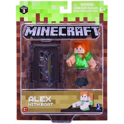 Игровая фигурка Minecraft Alex with Boat серия 3 (16491M)