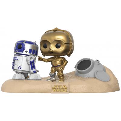 POP! Bobble 2-Pack: Star Wars: Movie Moments: R2-D2 & C-3PO Desert (Exc)
