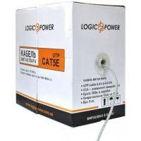 Кабель ВП кат. 5e UTP LogicPower, медный, толщина 0.5 мм, внешний, 305 м (бухта)