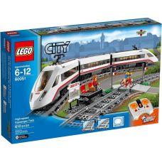 Lego City Железная Дорога Скоростной Пассажирский Поезд (60051)