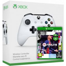 FIFA 21 (русская версия) + Microsoft Xbox One S Wireless Controller with Bluetooth (White)