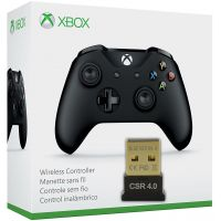 Microsoft Xbox One S Wireless Controller with Bluetooth (Black) + Bluetooth адаптер