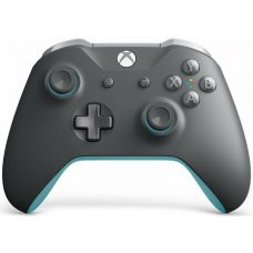 Microsoft Xbox One S Wireless Controller with Bluetooth (Grey/Blue)