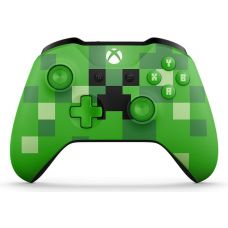Microsoft Xbox One S Wireless Controller with Bluetooth (Minecraft Creeper)