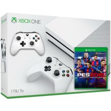 Microsoft Xbox One S 1Tb White + PES 2018 (русская версия) + доп. Wireless Controller with Bluetooth (White)