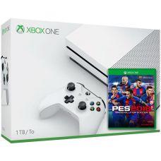 Microsoft Xbox One S 1Tb White + PES 2018 (русская версия)