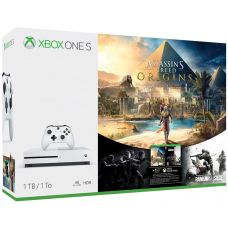 Microsoft Xbox One S 1Tb White + Assassin's Creed: Origins/Истоки (русская версия)
