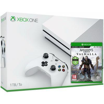 Microsoft Xbox One S 1Tb White + Assassin's Creed Valhalla\Вальгалла (русская версия)