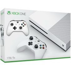 Microsoft Xbox One S 1Tb White + доп. Wireless Controller with Bluetooth (White) + Игра на выбор в подарок!
