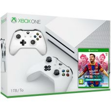 Microsoft Xbox One S 1Tb White + eFootball Pro Evolution Soccer 2021 (русская версия) + доп. Wireless Controller with Bluetooth (White)