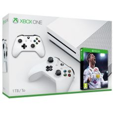 Microsoft Xbox One S 1Tb White + FIFA 18 (русская версия) + доп. Wireless Controller with Bluetooth (White)