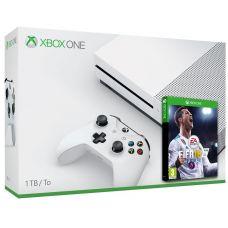 Microsoft Xbox One S 1Tb White + FIFA 18 (русская версия)