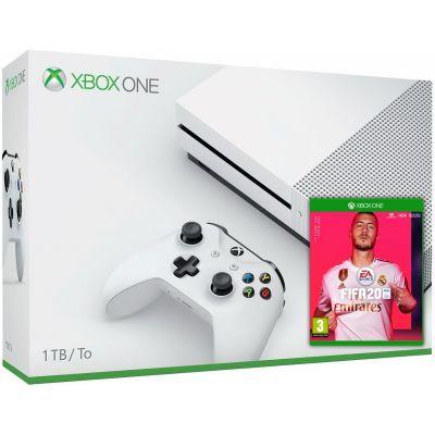 Microsoft Xbox One S 1Tb White + FIFA 20 (русская версия)