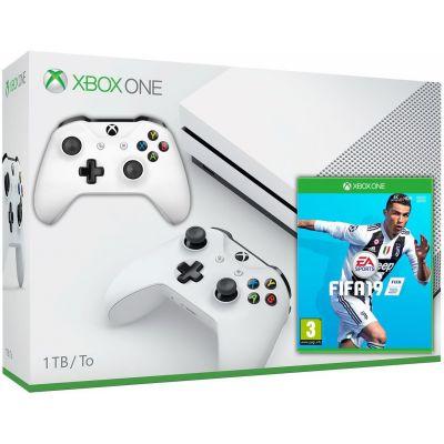 Microsoft Xbox One S 1Tb White + FIFA 19 (русская версия) + доп. Wireless Controller with Bluetooth (White)