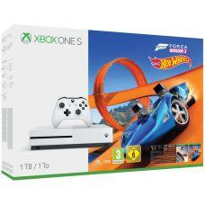 Microsoft Xbox One S 1Tb White + Forza Horizon 3 (русская версия) + Hot Wheels (русская версия)