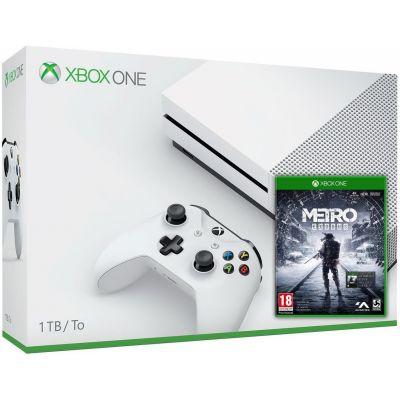 Microsoft Xbox One S 1Tb White + Metro Exodus / Исход (русская версия)