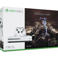 Microsoft Xbox One S 1Tb White + Средиземье: Тени войны (ваучер на скачивание) (русская версия)