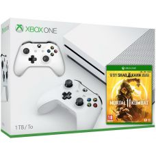 Microsoft Xbox One S 1Tb White + Mortal Kombat 11 Special Edition (русская версия) + доп. Wireless Controller with Bluetooth (White)