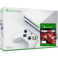 Microsoft Xbox One S 1Tb White + NBA 2K20 (ваучер на скачивание)