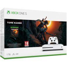 Microsoft Xbox One S 1Tb White + Shadow of the Tomb Raider (русская версия)