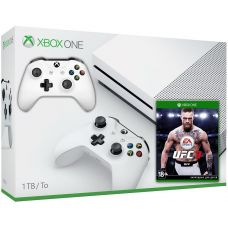 Microsoft Xbox One S 1Tb White + UFC 3 (русская версия) + доп. Wireless Controller with Bluetooth (White)