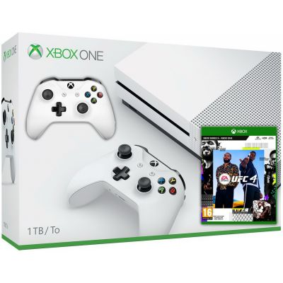 Microsoft Xbox One S 1Tb White + UFC 4 (русская версия) + доп. Wireless Controller with Bluetooth (White)