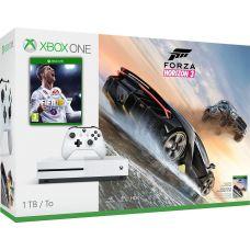 Microsoft Xbox One S 1Tb White + FIFA 18 (русская версия) + Forza Horizon 3 (русская версия)