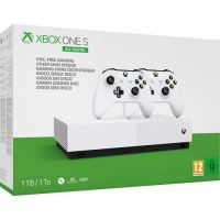 Microsoft Xbox One S 1Tb White All-Digital Edition + доп. Wireless Controller with Bluetooth (White)
