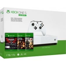 Microsoft Xbox One S 1Tb White All-Digital Edition + Gears of War Collection: 3 + 2 + Gears of War Ultimate Edition (ваучер на скачивание) (русская версия)